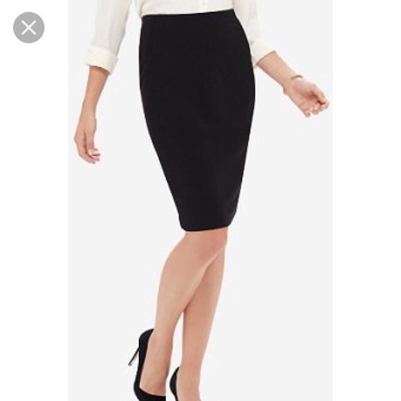 b39610e07 Nordstrom Skirts | Black Tweed Ponte Pencil Skirt By Halogen 2p4p ...
